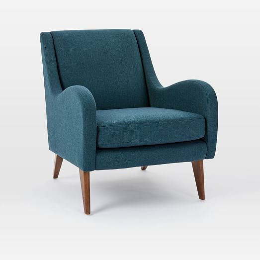 Sebastian Chair Twill Teal Living Room Chairs Teal Accent