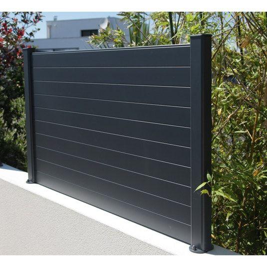 Cloture A Composer Aluminium Naterial Klos Up Gris Anthracite Leroy Merlin Cloture Aluminium Cloture Maison Cloture Jardin
