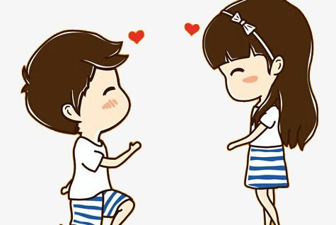 Girl boy love image cartoon