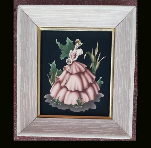 Turner Print of Southern Belle on Black 1940s - 1950s