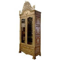 Antique Syrian Inlaid Cabinet 1st Dibs The Objects