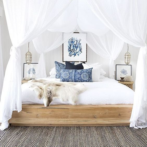 I love canopy beds and I can't stop. @driftwoodinteriors @villastyling through and through Styling & Photography @villastyling with the lovely @the_boho_bungalow: