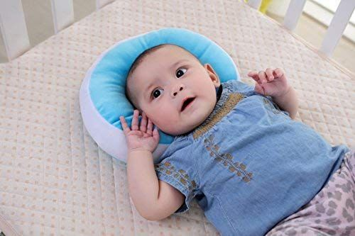 Anti Flat Head Baby Pillow Kakiblin Head Shaping Pillow For Infants Soft Head Support Pillow For 0 1 Year Old Blue Anti Flat Head Baby Pil Baby Pillows Support Pillows Toddler Winter Fashion