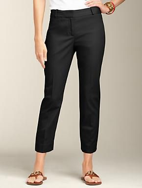 Talbots - Curvy Fit Slim-Leg Twill Super Crops | Pants | Apparel