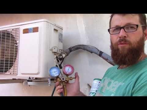Prueba Y Carga De Refrigerante R22 Equipo Acondicionador De Aire Refrigeracion Aire Acondicionado Split Refrigeracion Y Aire Acondicionado Aire Acondicionado