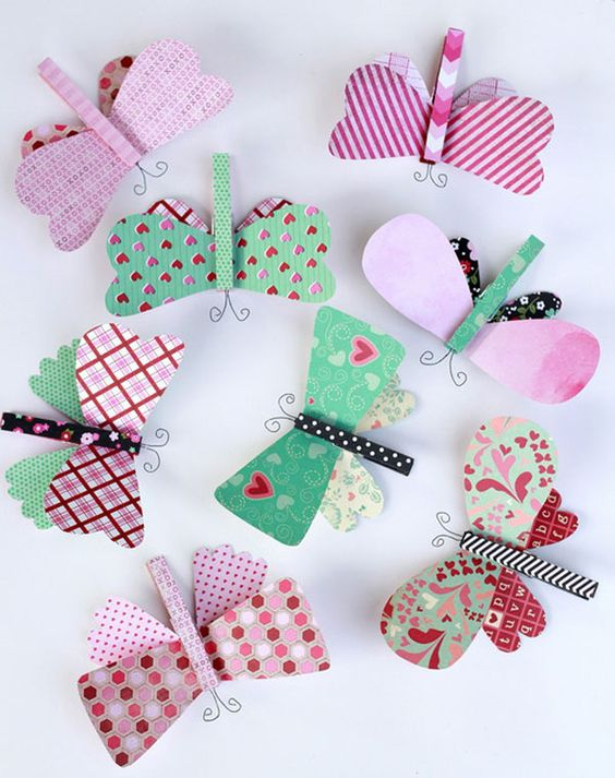 Manualidades para niños con pinzas: ¡mariposas!