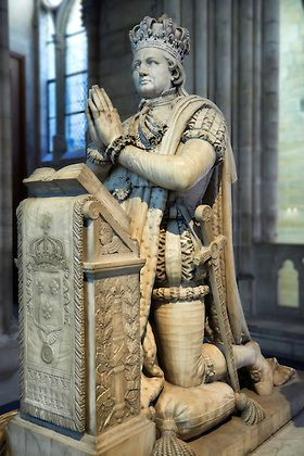 Tomb monument of Louis XVI (1754-1793), King of France. Cathedral Basilica of Saint Denis, Paris.