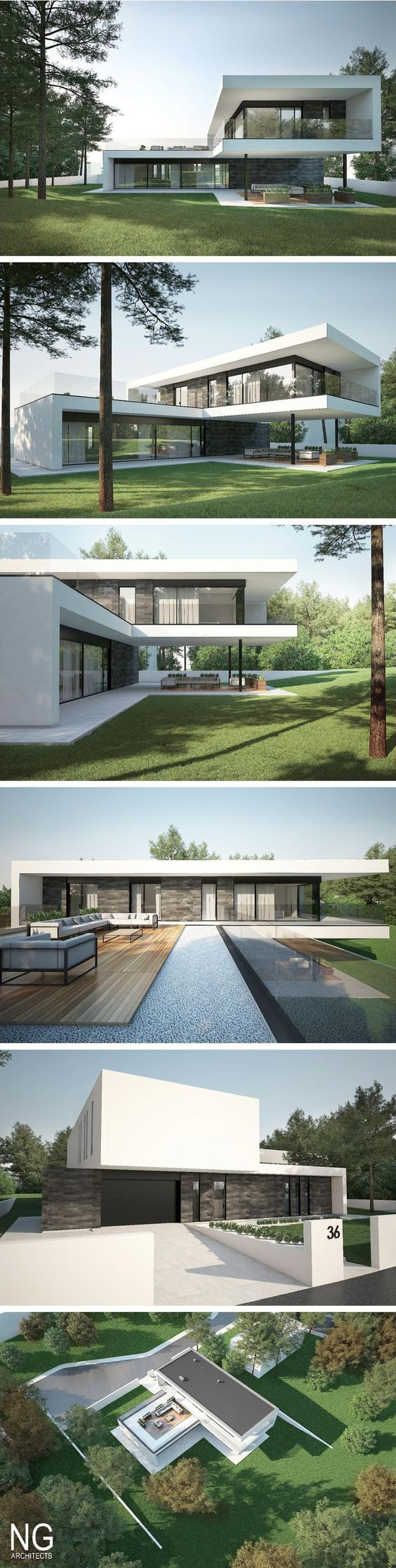 Modern houses architects and modern on pinterest for Nice modern houses