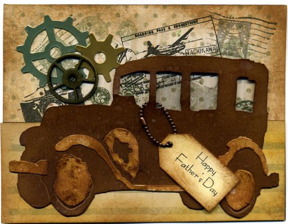 Tim Holtz Old Jalopy card