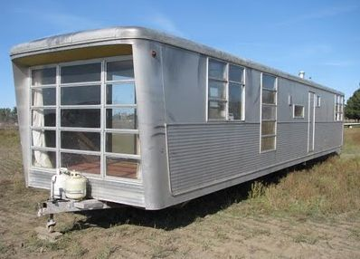 1959 Spartan Mobile Home   Black window frames, Window and ...