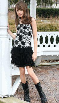 Elisa B Tween Sequined Dot Print Tween Party Dress  For My ...