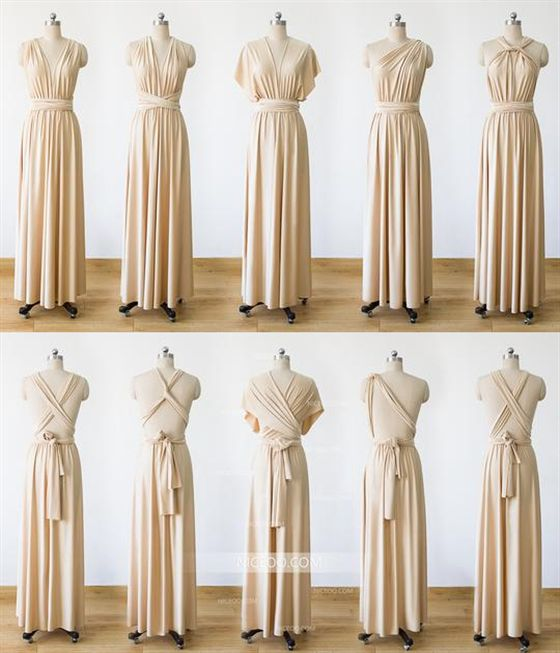 Champagne Infinity Bridesmaid Dresses