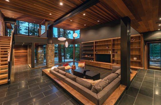 Top 70 Best Great Room Ideas Living Space Interior Designs Prefab Homes Modern Prefab Homes Simple House