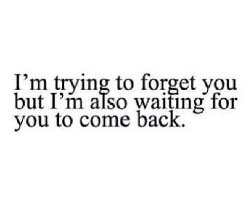 I'm Trying To Forget You But I'm Also Waiting For You To