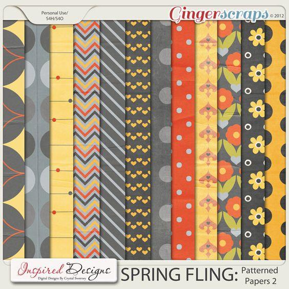 SPRING FLING: Patterned Papers 2