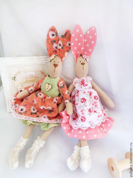 Купить Тильда - заяц (Весенняя) - оранжевый, салатовый, тильда заяц, тильда кукла, тильда: