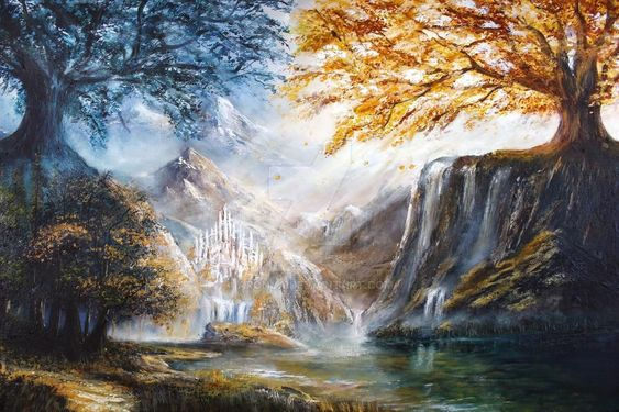 The Trees Of Valinor by Aronja on DeviantArt