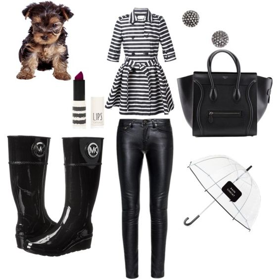 rainy days by douthdes on Polyvore featuring polyvore interior interiors interior design home home decor interior decorating RED Valentino Yves Saint Laurent MICHAEL Michael Kors Demitasse Kate Spade Topshop