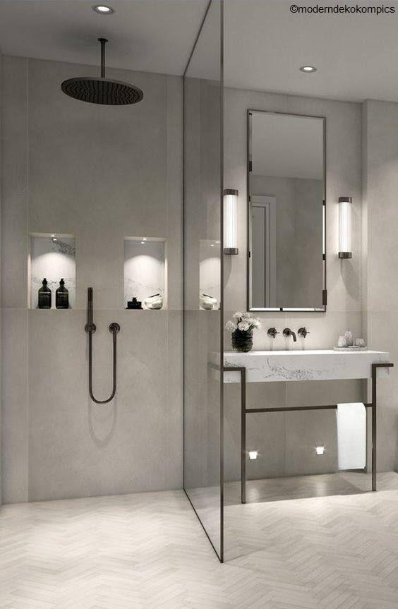 La Douche A L Italienne En 2020 Salle De Bains Moderne Decoration Salle De Bain Salle De Bain Design