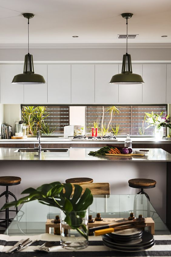 Window kitchen backsplash Richmond Bridge in London DREAM HOME - küchen luxus design