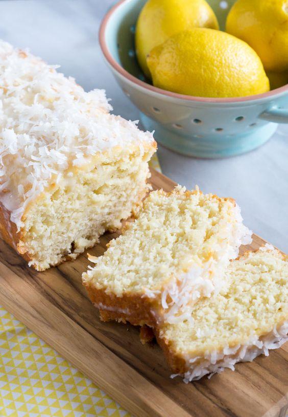 lemon coconut quick bread from @bakeat350