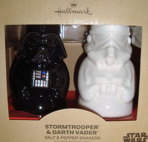 Exclusive 2014 hallmark star wars darth vader stormtrooper - Darth vader and stormtrooper salt and pepper shakers ...