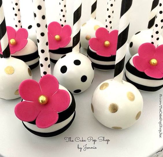 Kate Spade Inspired Bridal Shower Cake Pops | Everything You Need for a Kate Spade Inspired Bridal Shower on Early Ivy earlyivy.com