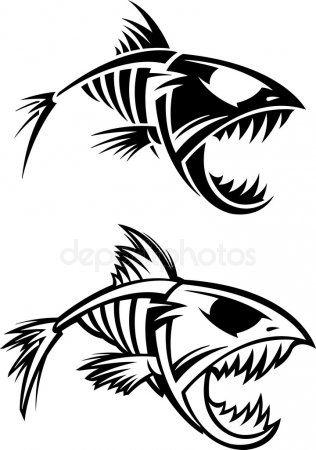 Esqueleto De Pescado Esqueleto Dibujo Dibujos Tribales Dibujo Pescado