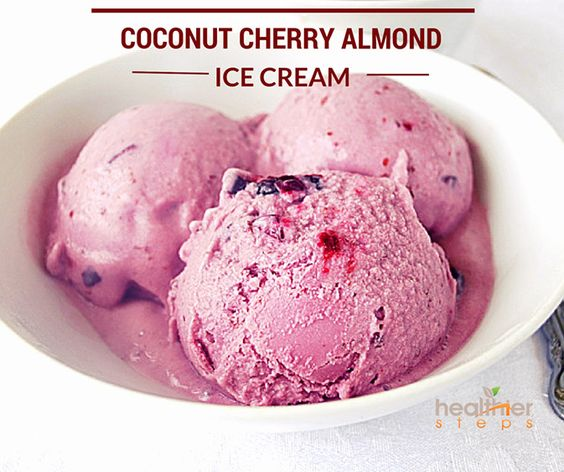 Coconut Cherry Almond Ice Cream (Gluten Free | Almond Ice Cream ...