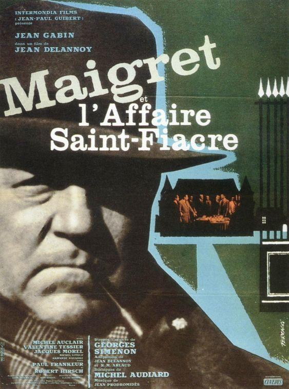 Maigret et l'Affaire Saint-Fiacre est un film franco-italien adapté du roman L'Affaire Saint-Fiacre de Georges Simenon et réalisé par Jean Delannoy en 1959. Le commissaire Maigret revient à Saint-Fiacre1, village où il a passé son enfance, à l'invitation de la comtesse de Saint-Fiacre.  Celle-ci connaît le « petit Jules » devenu commissaire, car le père de Maigret fut régisseur du domaine du château des Saint-Fiacre.
