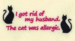 The Cat Was Allergic - 5x7 | Tags | Machine Embroidery Designs | SWAKembroidery.com Starbird Stock Designs