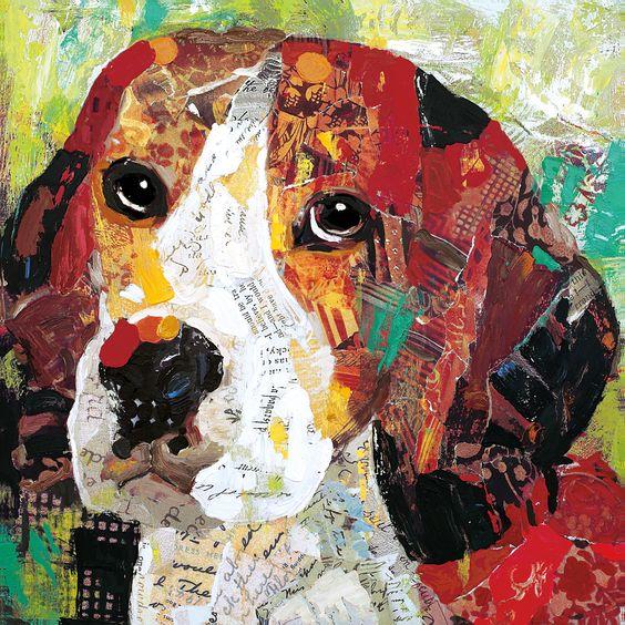 Sandy Doonan 'Art Dog Beagle' Print Wall Art