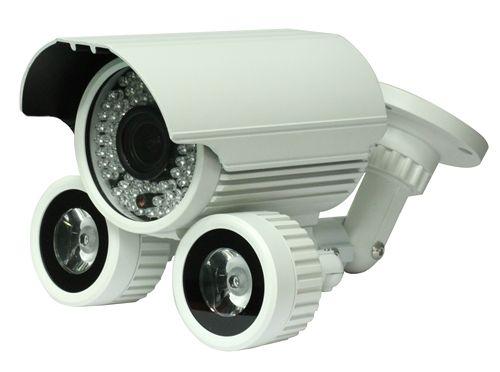 Surveillance Camera - weatherproof day-night w/ wide dynamic range, manual zoom, and long range IR