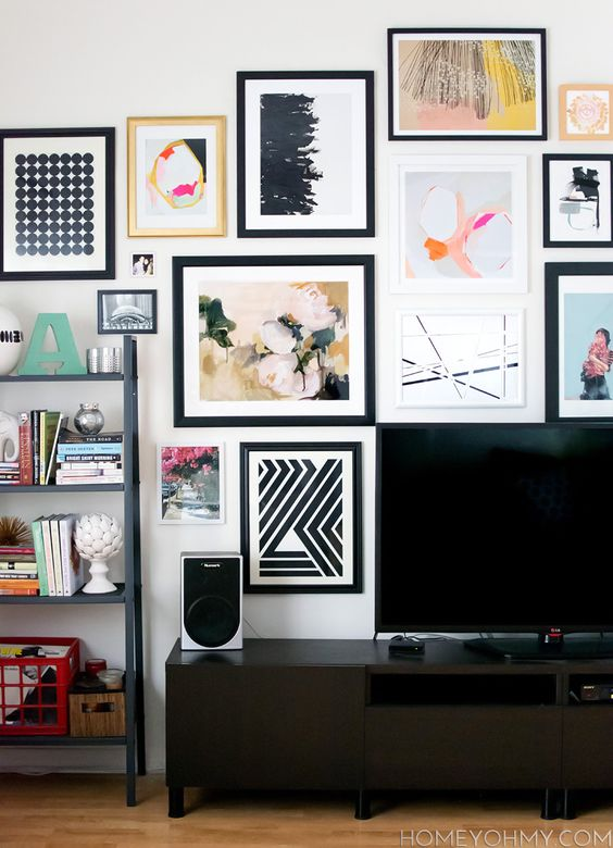 Art Gallery Wall behind tv: