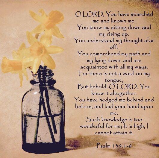 Psalm 139:1-6