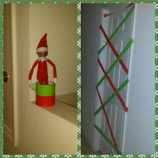 Elf on the shelf idea Duct tape the kids room