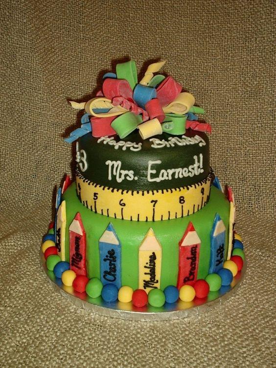 Teacher Cake  Cake Ideas  Pinterest  Birthday cakes, Teacher cakes ...