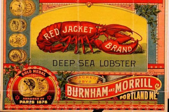 """A trademark label for canned """"deep sea"""" lobster that was submitted to the Maine Secretary of State in 1891. (PHOTO: PUBLIC DOMAIN)"""