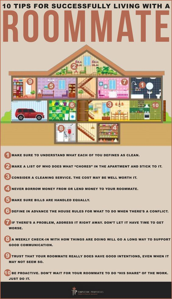 tips to live with a roommate