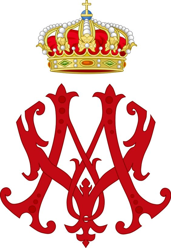 Imperial Monogram of Archduchess Marie Valerie of Austria.