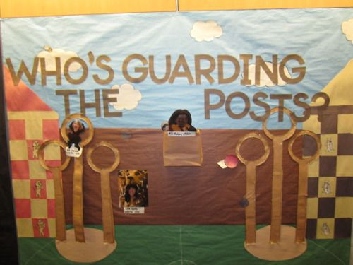 Harry potter theme what month and internet safety on for Pretty bulletin board