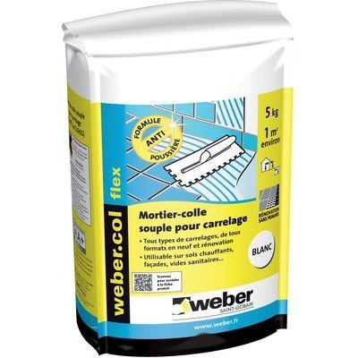 Colle Carrelage Weber Flex Supplement Container Container Supplements
