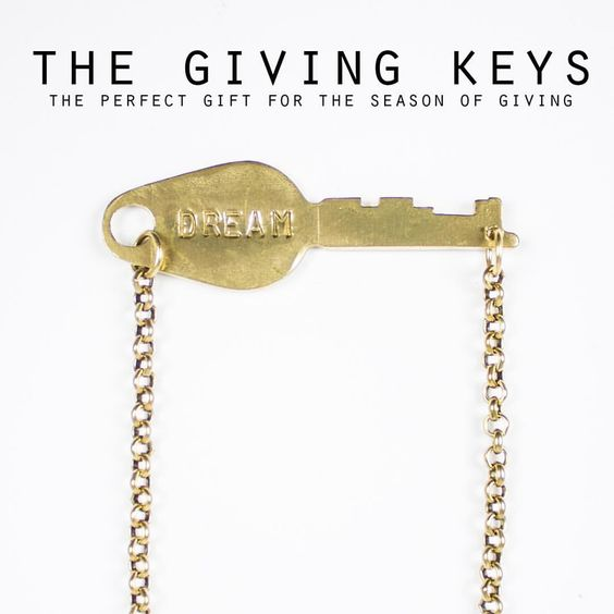 We're stocked up on Giving Keys just in time for the holidays! They make the perfect gift! Necklaces $35-$45. Bracelets $40. Stop by and see us today!