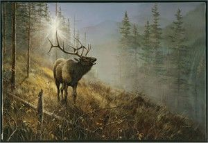 "Jim Hansel /""North Country/"" Bull Moose Print  16/"" x 12/"""