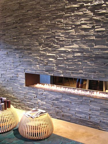 Leistenen muur strips wandbekleding pinterest open haarden met en beautiful - Leisteen muur ...