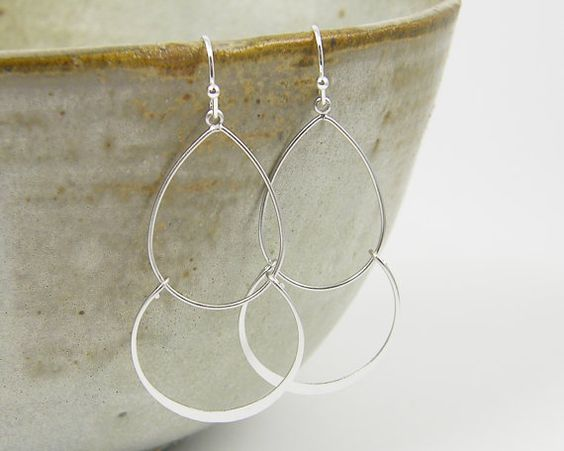 Hey, I found this really awesome Etsy listing at https://www.etsy.com/listing/172169971/double-hoop-earring-large-silver