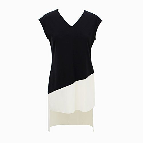 V Neck, Black and White, Asymmetrical, Minimalist Women's Top, http://www.amazon.it/dp/B01FWIJXNO/ref=cm_sw_r_pi_awdl_dkLpxb0AJZG83