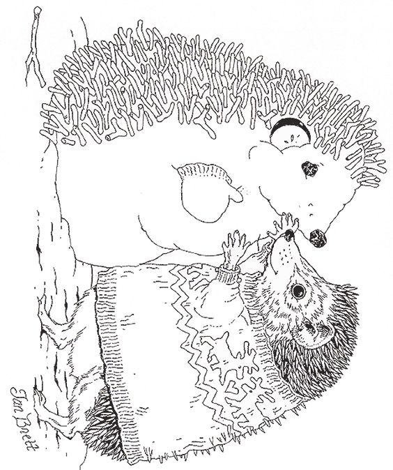 jan brett holiday coloring pages - photo#19