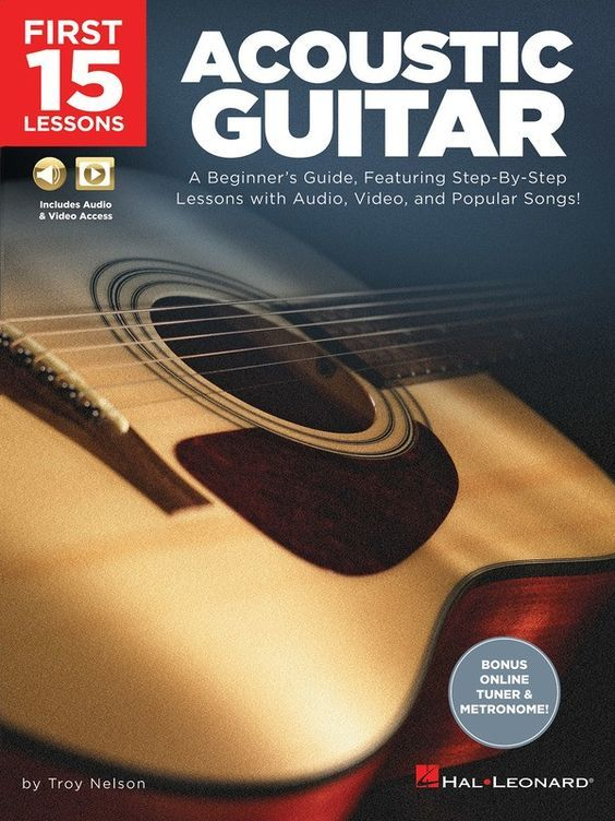 First 15 Lessons Acoustic Guitar Book Olm In 2020
