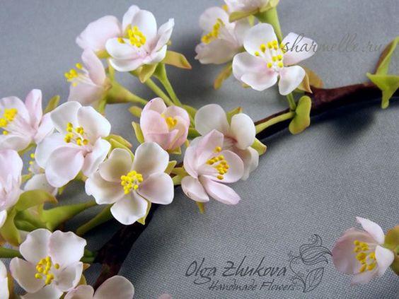 холодный фарфор цветы - Pesquisa Google
